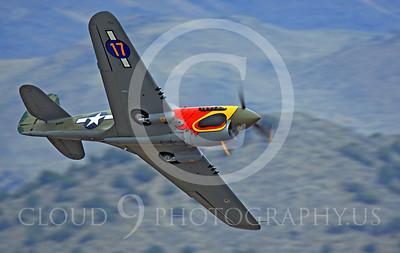 Race Airplane Parott Head 00002 Curtiss P-40 Warhawk Parott Head NL1195N at Reno air races by Peter J Mancus
