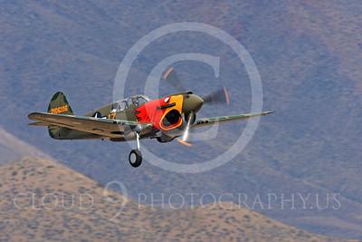 Race Airplane Parott Head 00006 Curtiss P-40 Warhawk Parott Head NL1195N at Reno air races by Peter J Mancus