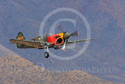 Race Airplane Parott Head 00006 Curtiss P-40 Warhawk Parott Head NL1195N at Reno air races by Peter J Mancus