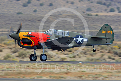 Race Airplane Parott Head 00001 Curtiss P-40 Warhawk Parott Head NL1195N at Reno air races by Peter J Mancus