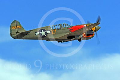 Race Airplane Parott Head 00013 Curtiss P-40 Warhawk Parott Head NL1195N at Reno air races by Peter J Mancus