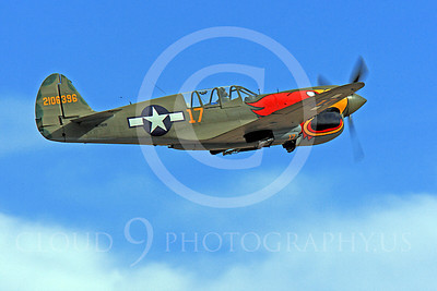 Race Airplane Parott Head 00013 Curtiss P-40 Warhawk Parott Head NL1195N at Reno air races by Peter J Mancus
