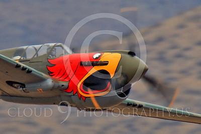 Race Airplane Parott Head 00011 Curtiss P-40 Warhawk Parott Head NL1195N at Reno air races by Peter J Mancus