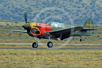 Race Airplane Parott Head 00019 Curtiss P-40 Warhawk Parott Head NL1195N at Reno air races by Peter J Mancus