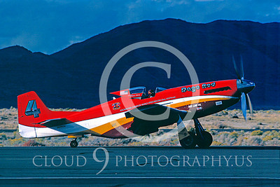 Race Airplane North American P-51 Mustang Dago Red N5410V 00001 Air racing plane North American P-51 Mustang Dago Red at Reno air races September 1989 by Stephen W D Wolf