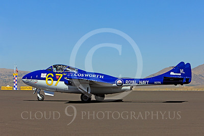 Race Airplane Vampire XG775 00015 de Havilland Vampire XG775 air racing plane at Reno air races by Peter J Mancus