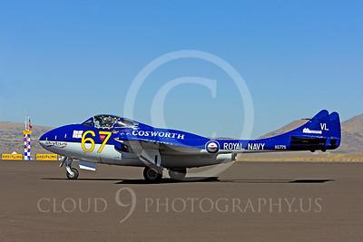 Race Airplane Vampire XG775 00015 de Havilland Vampire XG775 air racing plane at Reno air races by Peter J Mancus