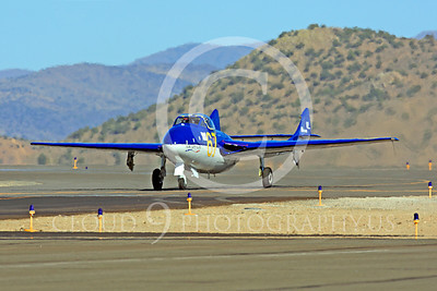 Race Airplane Vampire XG775 00021 de Havilland Vampire XG775 air racing plane at Reno air races by Peter J Mancus