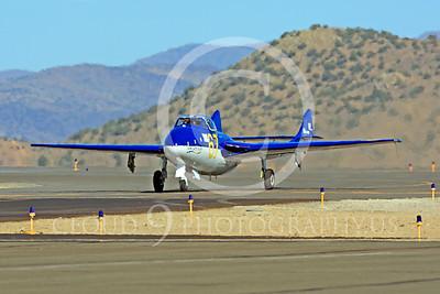 Race Airplane Vampire XG775 00021 de Havilland Vampire XG775 air racing plane at Reno air races by Peter J Mancus