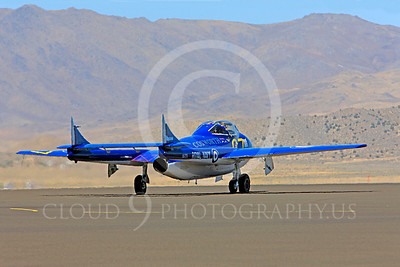 Race Airplane Vampire XG775 00019 de Havilland Vampire XG775 air racing plane at Reno air races by Peter J Mancus