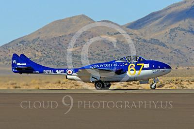 Race Airplane Vampire XG775 00001 de Havilland Vampire XG775 air racing plane at Reno air races by Peter J Mancus