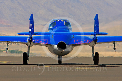 Race Airplane Vampire XG775 00025 de Havilland Vampire XG775 air racing plane at Reno air races by Peter J Mancus