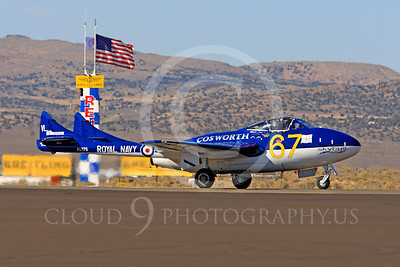 Race Airplane Vampire XG775 00009 de Havilland Vampire XG775 air racing plane at Reno air races by Peter J Mancus