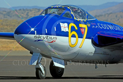 Race Airplane Vampire XG775 00011 de Havilland Vampire XG775 air racing plane at Reno air races by Peter J Mancus