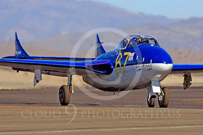 Race Airplane Vampire XG775 00027 de Havilland Vampire XG775 air racing plane at Reno air races by Peter J Mancus