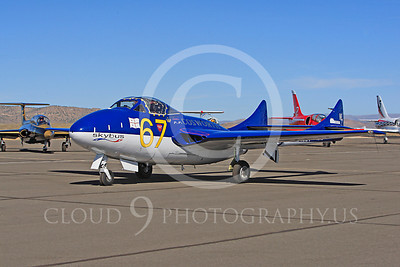 Race Airplane Vampire XG775 00005 de Havilland Vampire XG775 air racing plane at Reno air races by Peter J Mancus