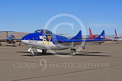 Race Airplane Vampire XG775 00005 de Havilland Vampire XG775 air racing plane at Reno air races by Peter J Mancus