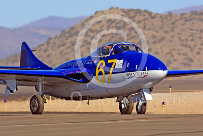 Race Airplane Vampire XG775 00013 de Havilland Vampire XG775 air racing plane at Reno air races by Peter J Mancus