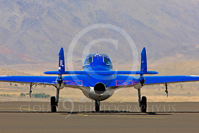 Race Airplane Vampire XG775 00017 de Havilland Vampire XG775 air racing plane at Reno air races by Peter J Mancus