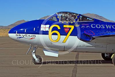 Race Airplane Vampire XG775 00003 de Havilland Vampire XG775 air racing plane at Reno air races by Peter J Mancus