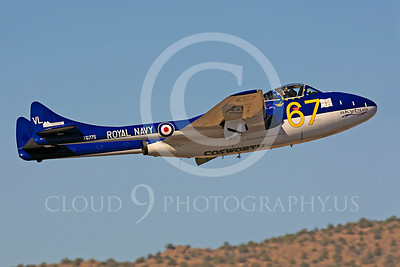 Race Airplane Vampire XG775 00002 de Havilland Vampire XG775 air racing plane at Reno air races by Peter J Mancus