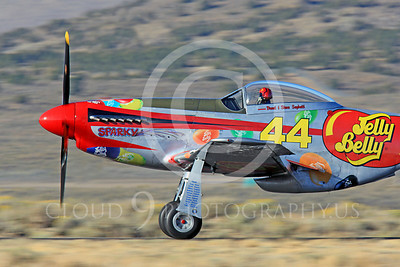 Race Airplane Sparky Jelly Belly 00021 North American P-51 Mustang Sparky Jelly Belly NL151D air racing plane at Reno Air Races by Peter J Mancus