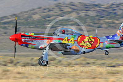 Race Airplane Sparky Jelly Belly 00001 North American P-51 Mustang Sparky Jelly Belly NL151D air racing plane at Reno Air Races by Peter J Mancus