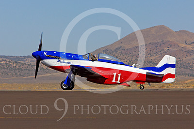 Race Airplane Miss America 00019 North American P-51 Mustang Miss America N991R at Reno air races by Peter J Mancus