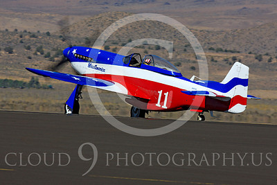 Race Airplane Miss America 00017 North American P-51 Mustang Miss America N991R at Reno air races by Peter J Mancus