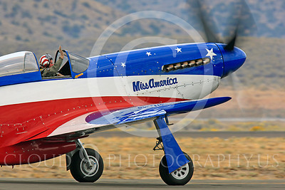 Race Airplane Miss America 00001 North American P-51 Mustang Miss America N991R at Reno air races by Peter J Mancus