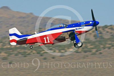 Race Airplane Miss America 00002 North American P-51 Mustang Miss America N991R at Reno air races by Peter J Mancus