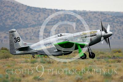 Race Airplane North American P-51 Precious Metal N6WJ 00009 Air racing plane North American P-51 Precious Metal N6WJ at Reno air races by Peter J Mancus