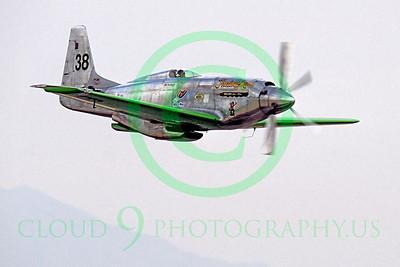 Race Airplane North American P-51 Precious Metal N6WJ 00002 Air racing plane North American P-51 Precious Metal N6WJ at Reno air races by Peter J Mancus