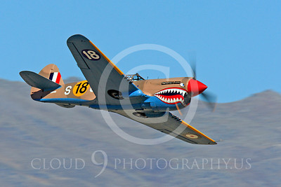 Race Airplane P-40 Flying Tiger 00004 Curtiss P-40 Flying Tiger NX94466 air racing plane at Reno air races by Peter J Mancus