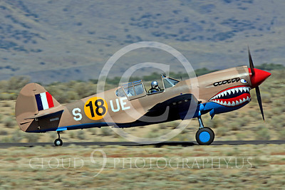 Race Airplane P-40 Flying Tiger 00003 Curtiss P-40 Flying Tiger NX94466 air racing plane at Reno air races by Peter J Mancus