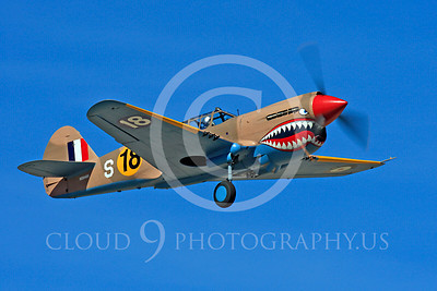 Race Airplane P-40 Flying Tiger 00006 Curtiss P-40 Flying Tiger NX94466 air racing plane at Reno air races by Peter J Mancus