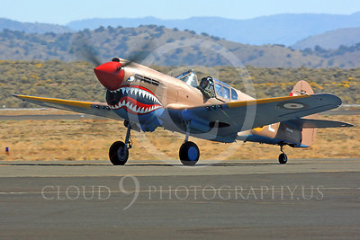 Race Airplane P-40 Flying Tiger 00001 Curtiss P-40 Warhawk Flying Tiger NX94166 air racing plane at Reno Air Races by Peter J Mancus