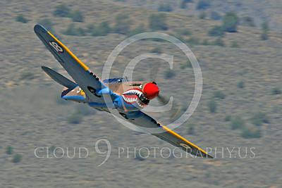 Race Airplane P-40 Flying Tiger 00008 Curtiss P-40 Flying Tiger NX94466 air racing plane at Reno air races by Peter J Mancus