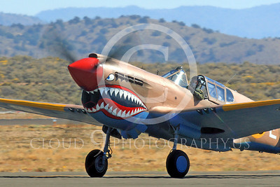 Race Airplane P-40 Flying Tiger 00021 Curtiss P-40 Warhawk Flying Tiger NX94166 air racing plane at Reno Air Races by Peter J Mancus