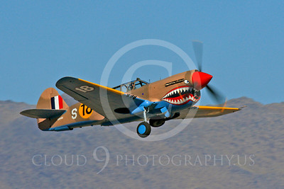 Race Airplane P-40 Flying Tiger 00022 Curtiss P-40 Flying Tiger NX94466 air racing plane at Reno air races by Peter J Mancus