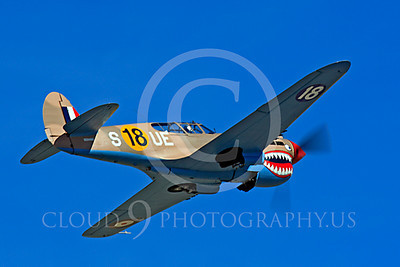 Race Airplane P-40 Flying Tiger 00002 Curtiss P-40 Flying Tiger air racing plane at Reno air races by Peter J Mancus