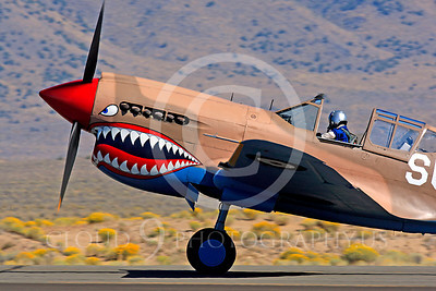 Race Airplane P-40 Flying Tiger 00005 Curtiss P-40 Flying Tiger NX94466 air racing plane at Reno air races by Peter J Mancus