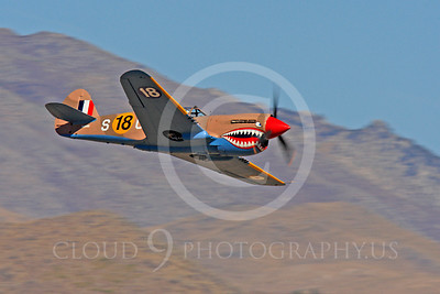 Race Airplane P-40 Flying Tiger 00012 Curtiss P-40 Flying Tiger NX94466 air racing plane at Reno air races by Peter J Mancus