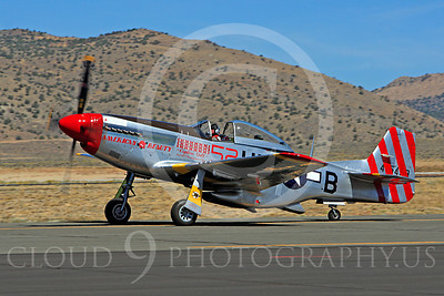 Race Airplane American Beauty 00001 North American P-51 Mustang race airplane American Beauty at Reno air races by Peter J Mancus