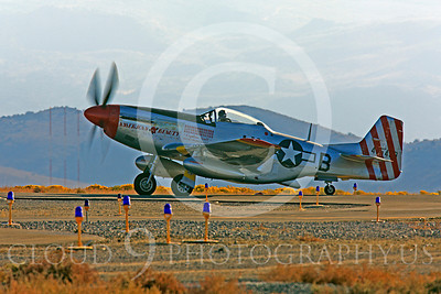 Race Airplane American Beauty 00007 North American P-51 Mustang race airplane American Beauty at Reno air races by Peter J Mancus