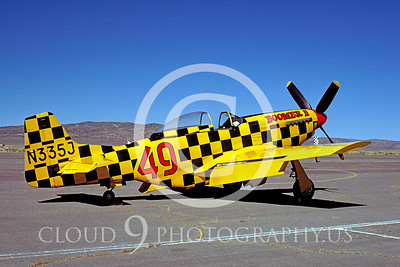 Race Airplane Boomer II N335J 00001 Air racing plane North American P-51 Mustang Boomer II at Reno air races September 1979 by William T Larkins