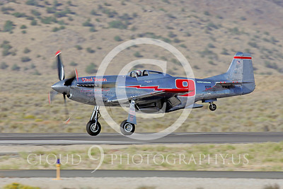 Race Airplane North American P-51 Mustang Cloud Dancer NL55JL 00003 Air racing plane North American P-51 Mustang Cloud Dancer at Reno air races by Peter J Mancus
