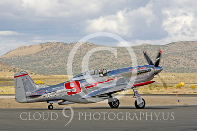 Race Airplane North American P-51 Mustang Cloud Dancer NL55JL 00007 Air racing plane North American P-51 Mustang Cloud Dancer at Reno air races by Peter J Mancus