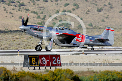 Race Airplane North American P-51 Mustang Cloud Dancer NL55JL 00001 Air racing plane North American P-51 Mustang Cloud Dancer at Reno air races by Peter J Mancus