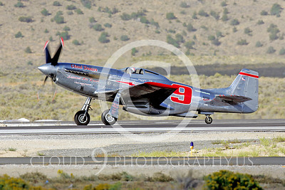 Race Airplane North American P-51 Mustang Cloud Dancer NL55JL 00005 Air racing plane North American P-51 Mustang Cloud Dancer at Reno air races by Peter J Mancus